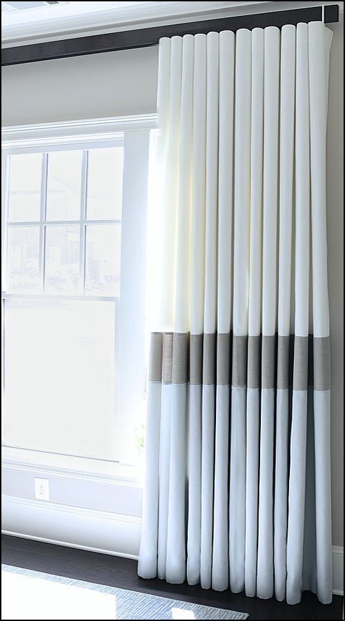 Wave Fold Modern Draperies Curtains With Blinds Bedroom
