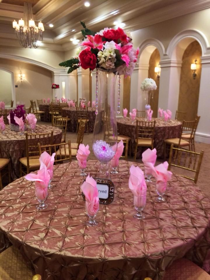 this pink color scheme looked great with our gold accents