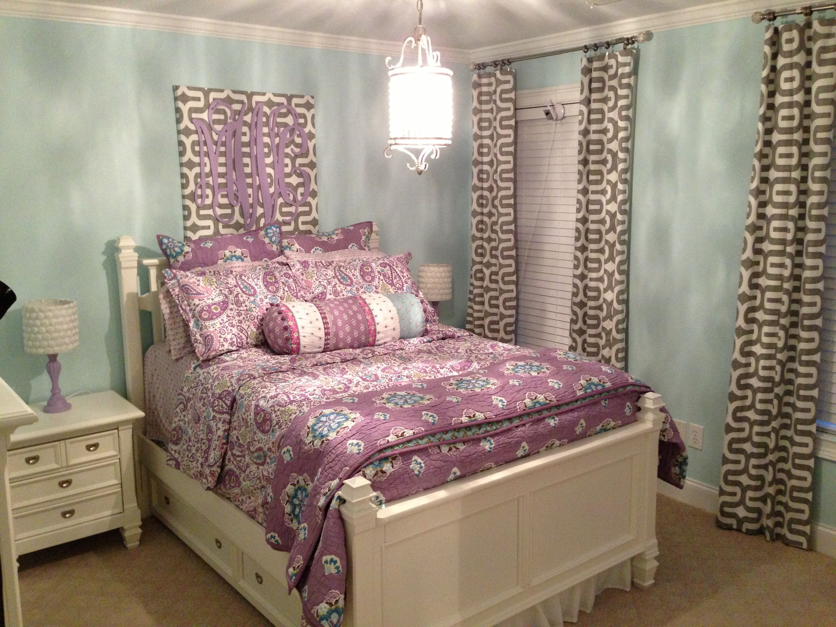 Mia s new room Brooklyn Lavender from Pottery Barn Kids