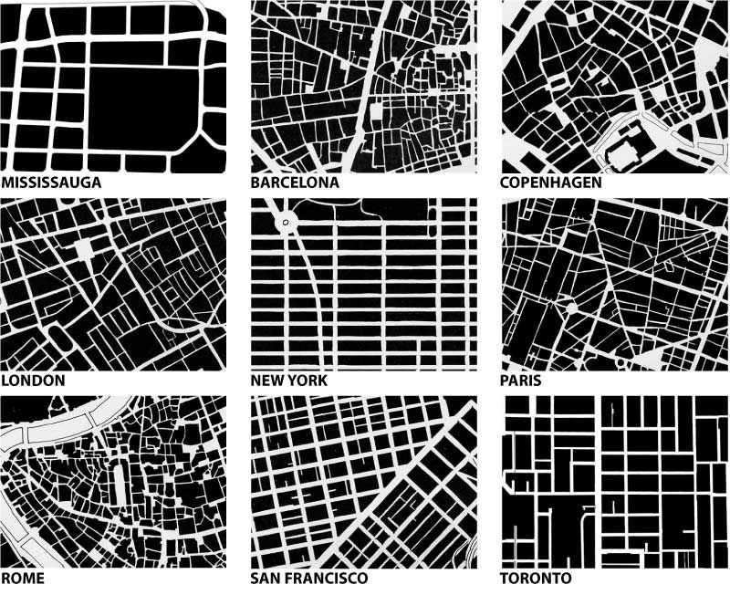 urban fabric: the physical form of places. picture from yuri artibise's 'yurbanism' blog.