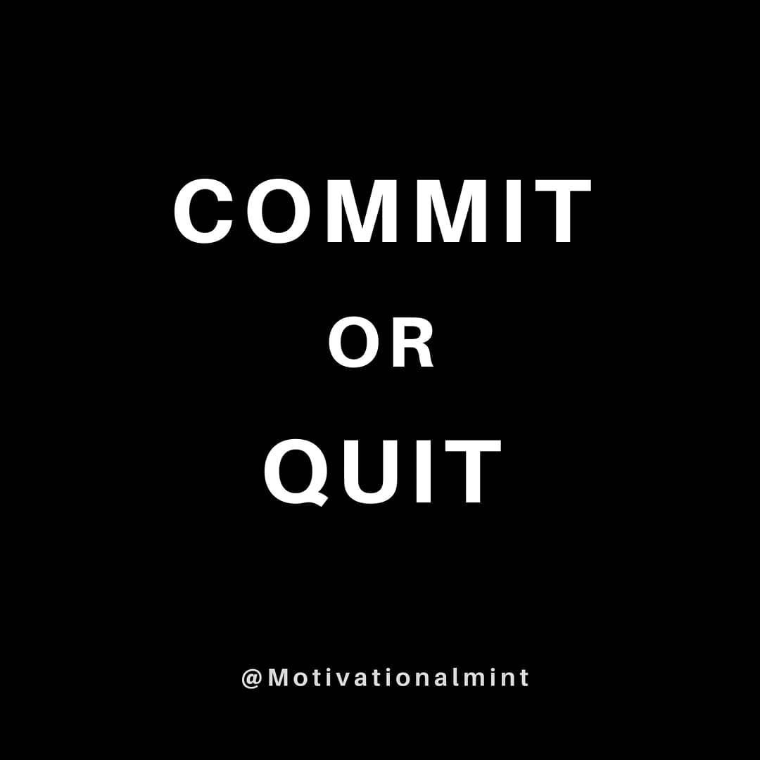 What does the word commitment means? It usually evokes a strong sense of intention and focus. It