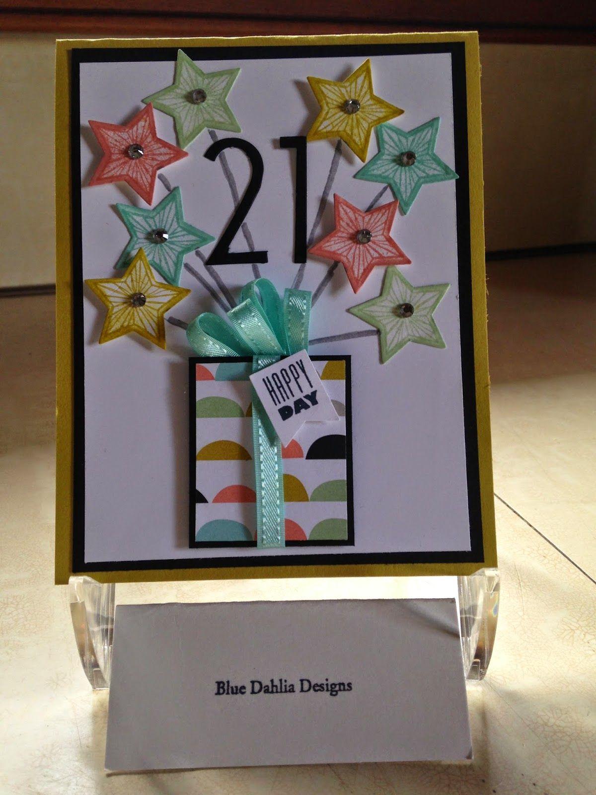 Blue Dahlia Designs Happy 21st Birthday Rachel Birthday Cards Special Birthday Cards 21st Birthday Cards