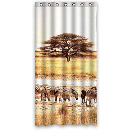 Custom Cool Zebras In The Wilderness Elegant ation Window Curtains ...