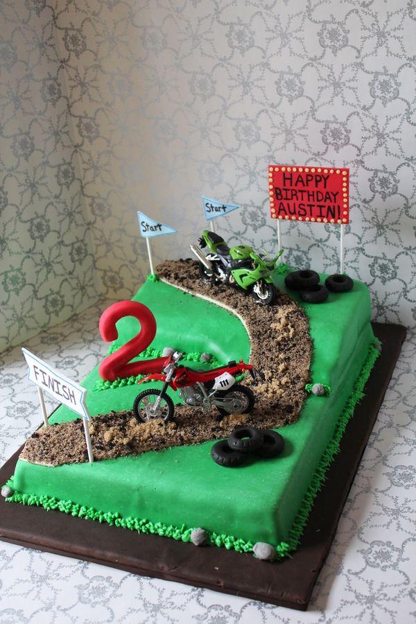 Motocross birthday cakes Dirt Bike Track Birthday Cakes