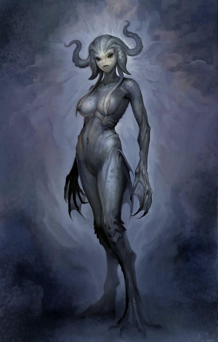 Deep one by douzen on deviantART monster beast creature