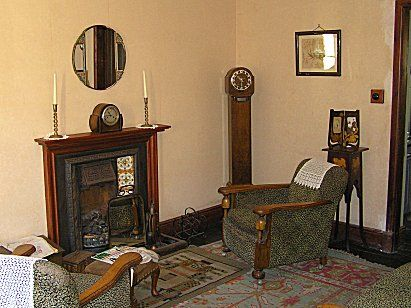 Old Living Room 1940 living room. summerlee museum of scottish industrial life
