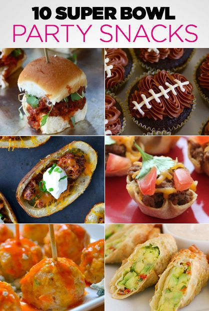 10 super bowl party snacks appetizers food recipes for Super bowl appetizers pinterest