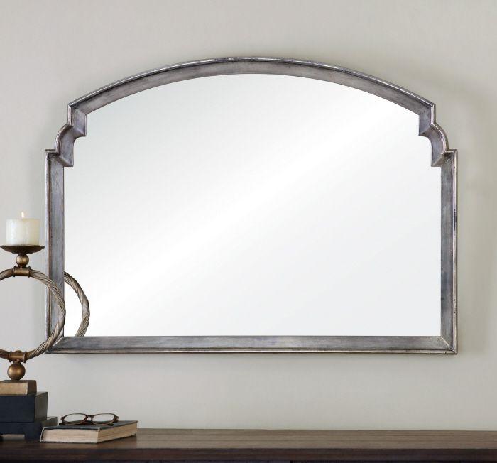 Uttermost Via Della Mirror. Frame is lightly antiqued silver leaf ...