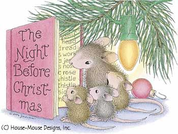 Image result for mouse house the night before christmas images