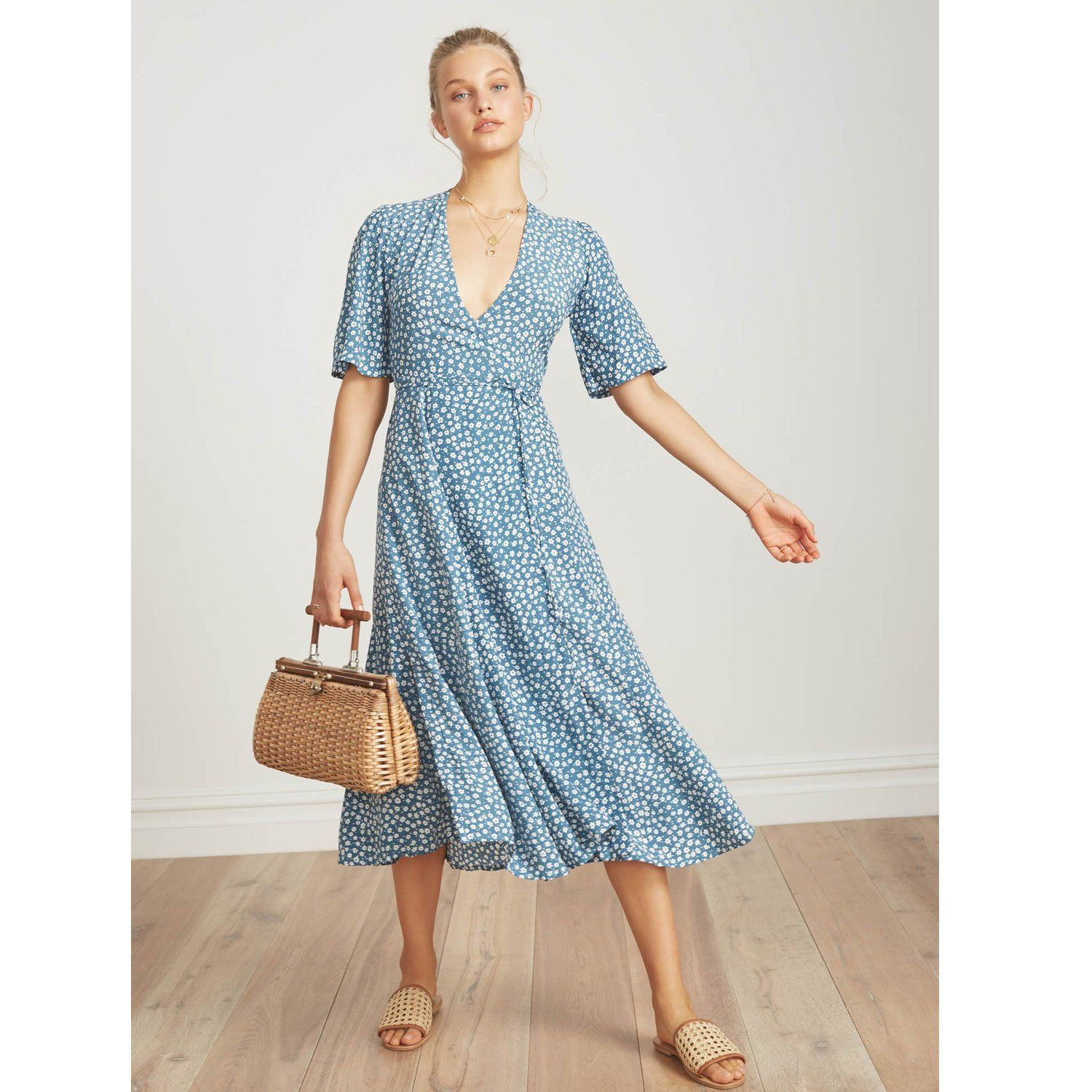 Discount Lowest Price Chloe Midi Dress Faithfull The Brand Authentic Cheap Price Discount Extremely Footaction For Sale rDvQMNV