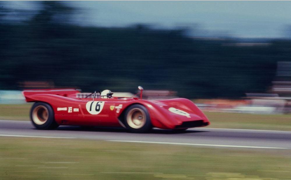 Chris Amon Ferrari 312p Watkins Glen 1969 Can Am Championship