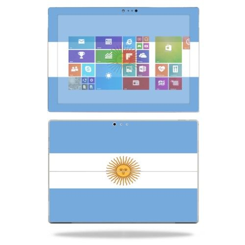 Mightyskins Protective Vinyl Skin Decal Cover for Microsoft Surface Pro 3 Tablet skins wrap sticker skins Argentina Flag