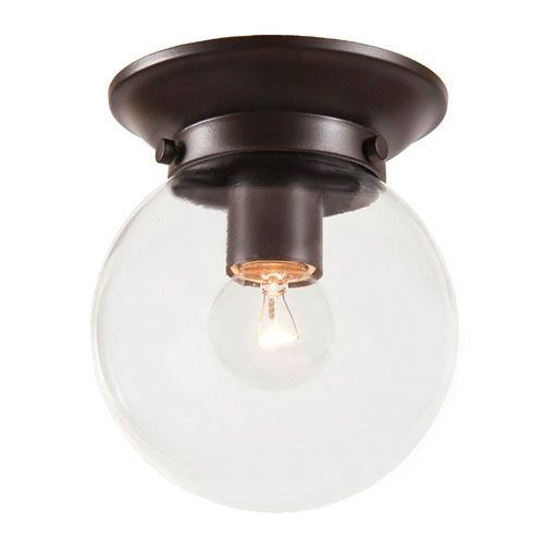 Windsor oil rubbed bronze flush mount fixture w clear glass globe flush and semi flush ceiling lighting lighting on sale bellacor aloadofball Gallery