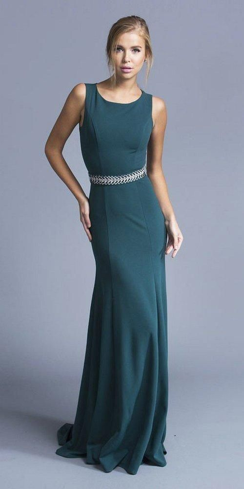 Jovani - 55877 Embellished Lace A-Line Evening Gown