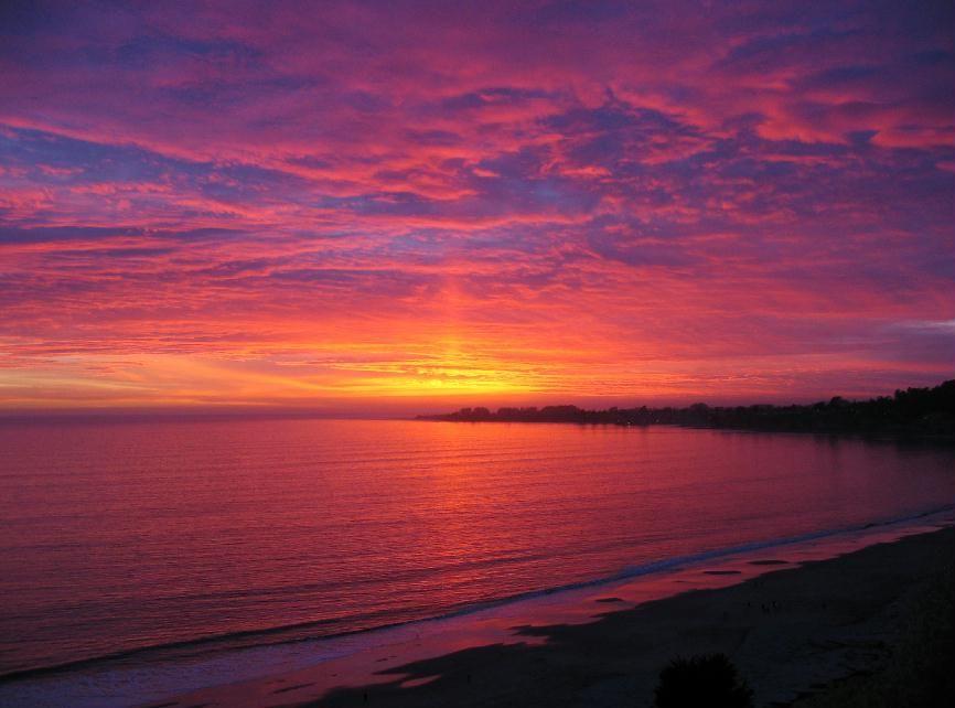 Sunset At Aptos Beach Santa Cruz Ca Beautiful Places