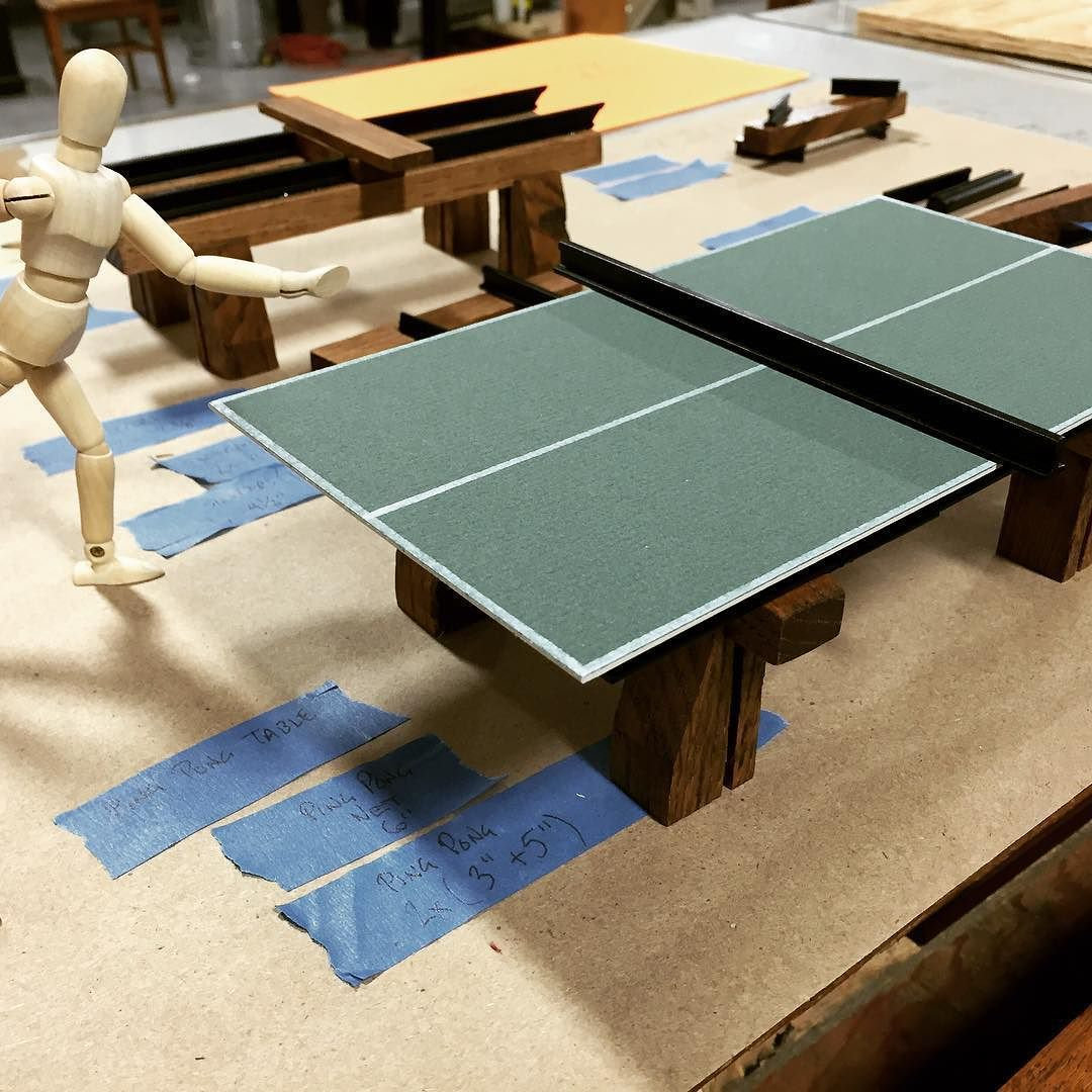 Scale model of ping pong table modelmaking scalemodel