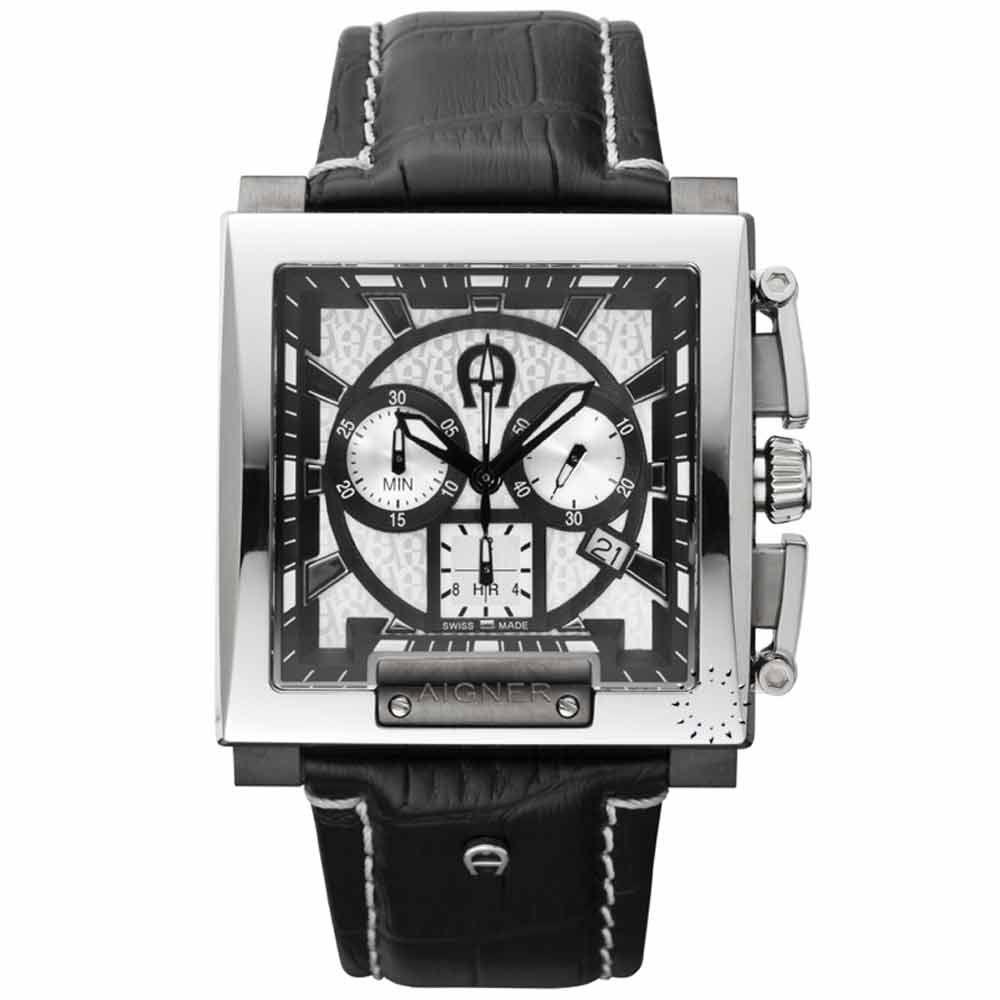 desvanecerse virtual Perforar  AIGNER MENS WATCHES - AIGNER Porto Cervo Chronograph Black Leather Strap