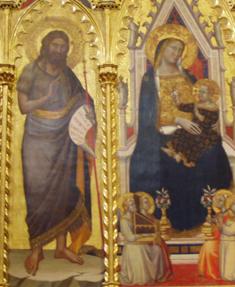 Taddeo Gaddi - Polittico di Santa Felicita, dettaglio - 1354 circa - Chiesa di Santa Felicita, Firenze