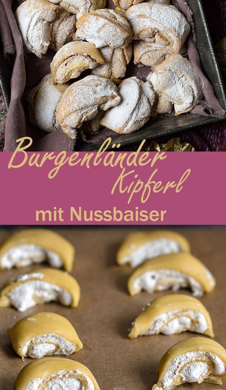 Photo of Burgenländer Kipferl – crispy biscuits with a nut meringue filling