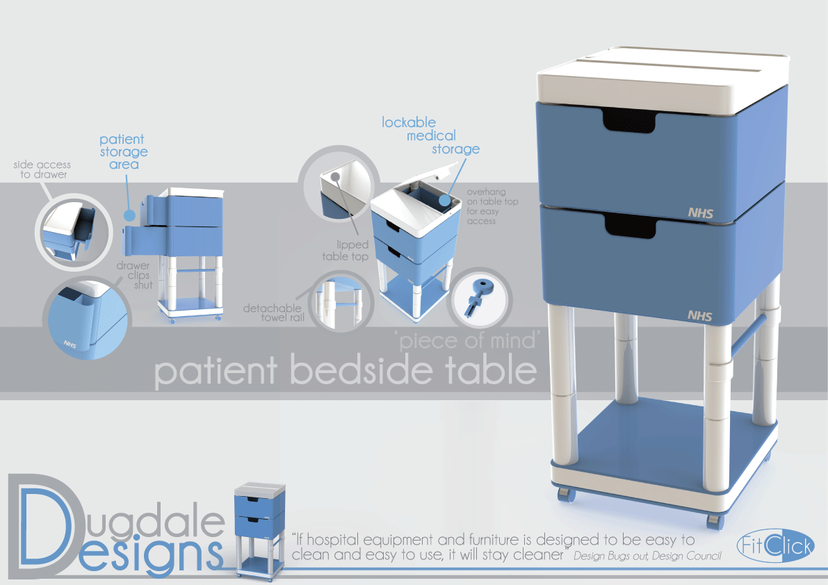 nhs patient bedside cabinet