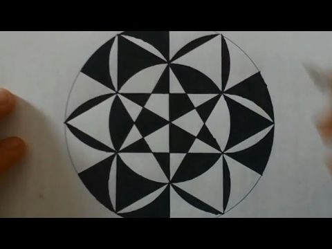 The Art Of Drawing Circles Geometrical Shapes Youtube