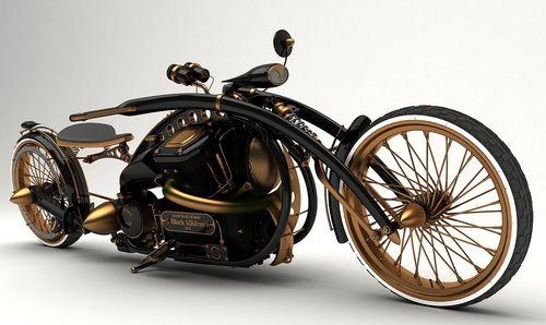 Rare custom motorcycle - Motocicleta rara personalizada