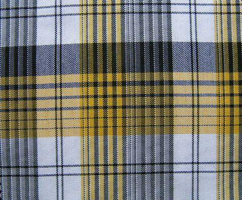 Black White Yellow Yarn Dyed Plaid Upholstery By Libbysfabric