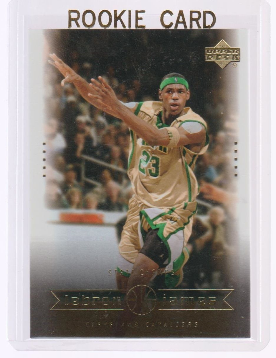 lebron james upper deck rookie card lebron's diary