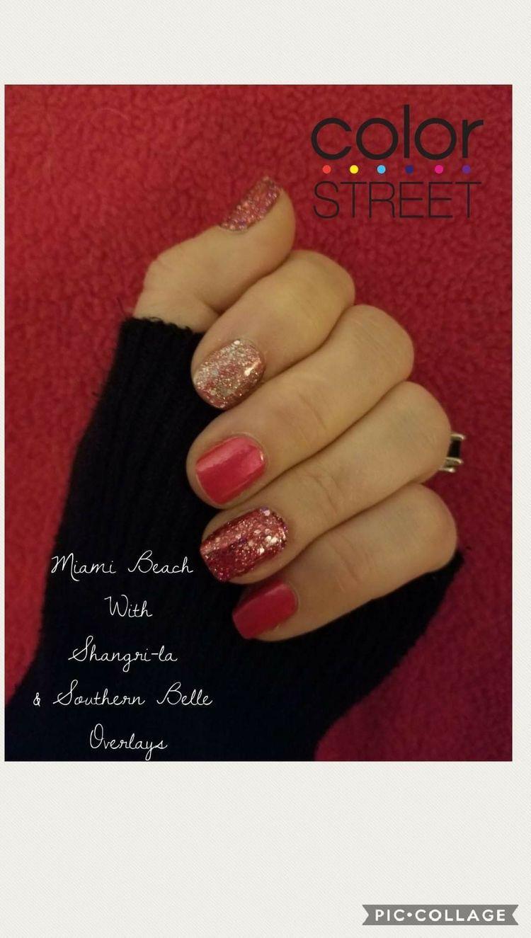 Spring Nail Mixed Mani Ideas Nails Glitternails Ideas Pink