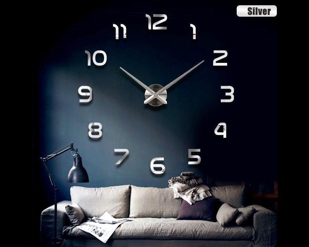 WANDUHR Uhr 3D Wandtattoo Deko Design Spiegel Edelstahl Wand Uhr Groß XXL  XL C11   EUR 23,79. EBay Shop Profil Bewertungen Newsletter  Tags In Der  Mit Der ...