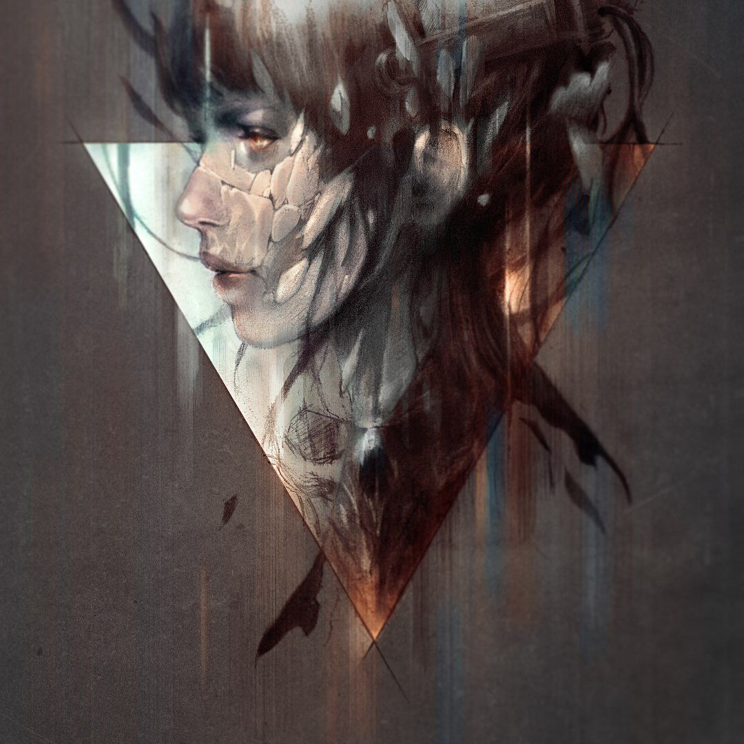 Moody Ghost in the Shell piece, art by Tito Satya Ghost