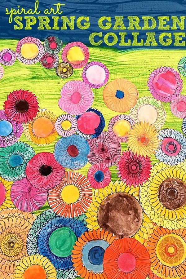 Garden Art Ideas For Kids kids art ideas: spiral art garden collage | collage, spring and