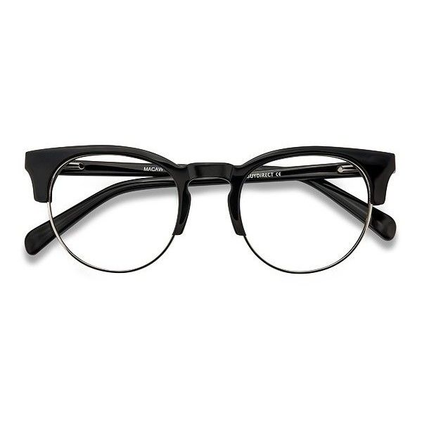 6ad54dfc64 Women s Macaw - Black browline horn metal - 19107 Rx Eyeglasses (120 TND) ❤  liked on Polyvore featuring accessories