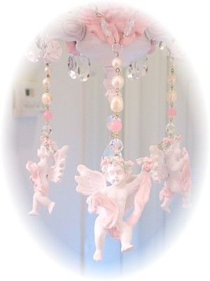 These pretty romantic cherub chandelier charms are the perfect way romantic victorian home collection chandelier charms mozeypictures Gallery