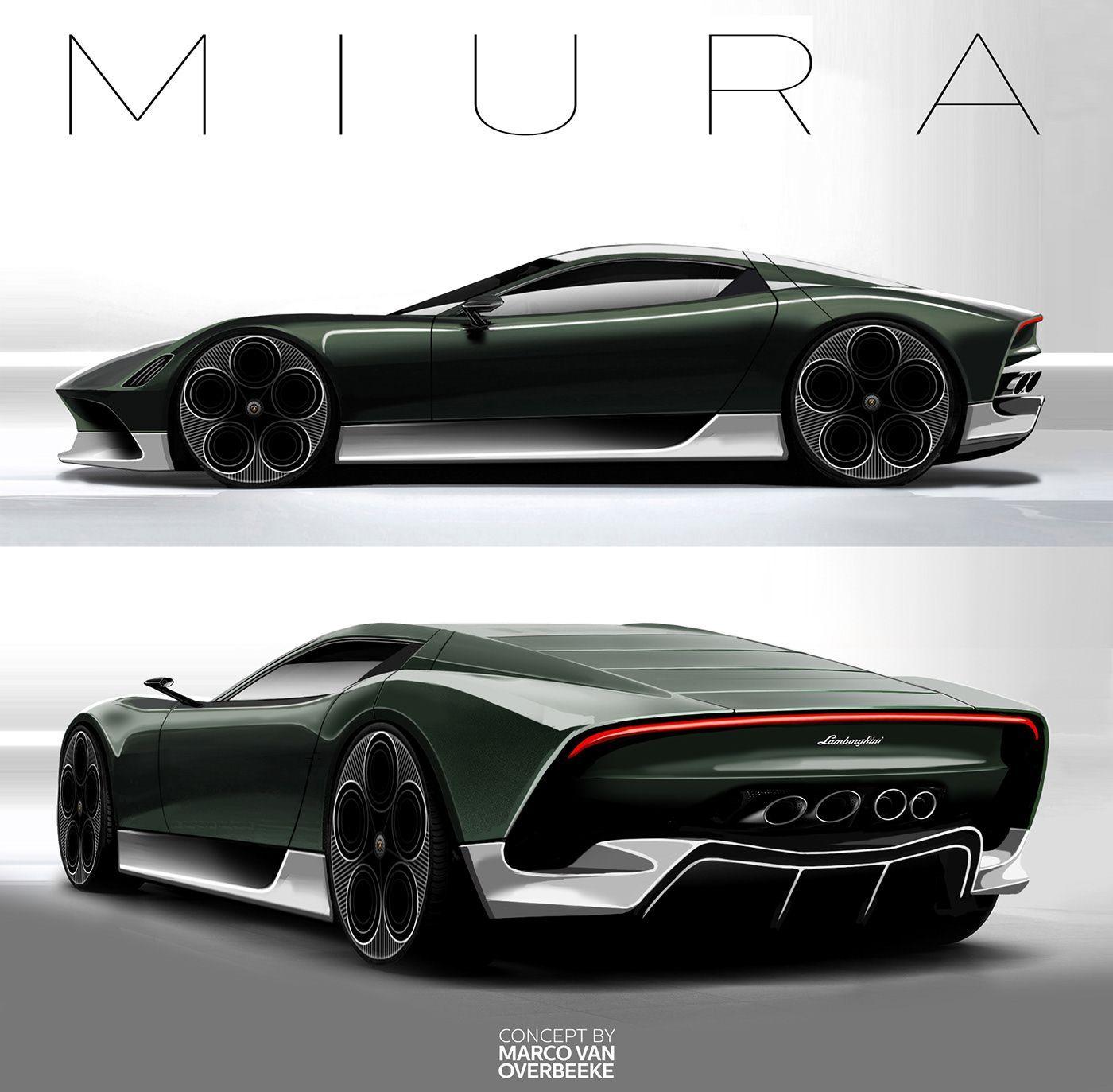 Lamborghini Miura Nuova Concept Ii On Behance In 2020 Lamborghini Concept Concept Car Design Concept Cars Vintage