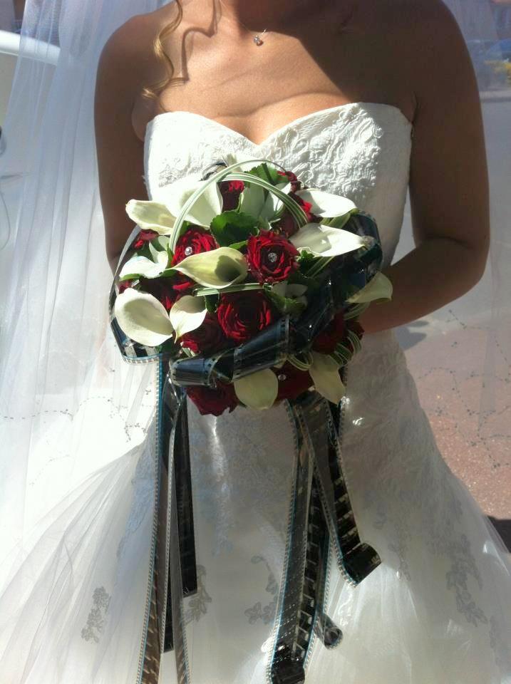 bouquet th me cin ma decoration mariage theme cinema. Black Bedroom Furniture Sets. Home Design Ideas