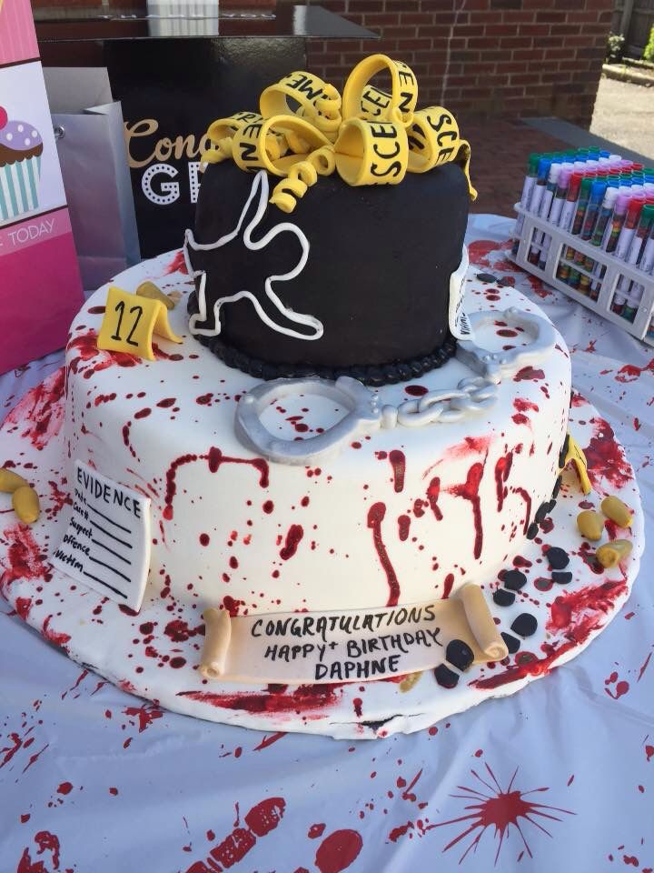 Daphne S Crime Scene Graduation Birthday Cake Crime