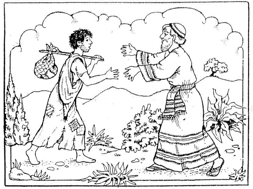 Parable Of The Lost Son Coloring Page
