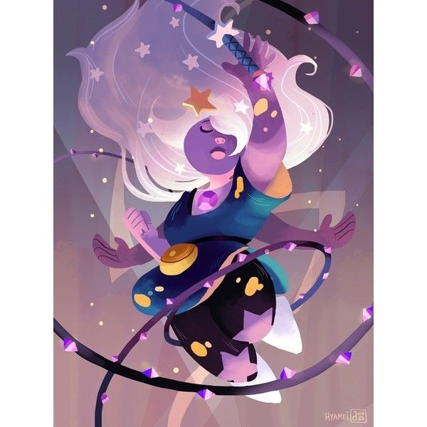 Abigail Dela Cruz Amethyst - Steven Universe ($15) ❤ liked on Polyvore featuring backgrounds and steven universe