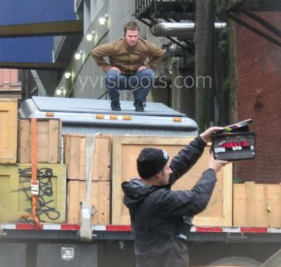 SHOOT: Watch ARROW's Stephen Amell Jump, Run over Cab and Then Right At Me | yvrshoots