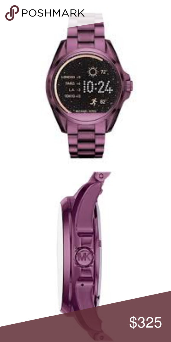 32c36e77ce88a Michael Kors Women s Plum Smart Watch MKT5017 Smart watch movement Track  goals