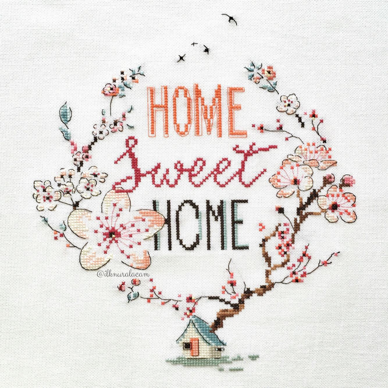 Home sweet home - cross stitch / Helene Le Berre | Ideas para el ...