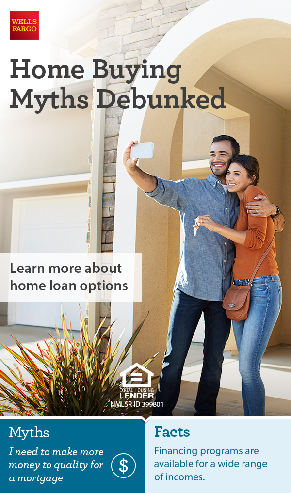 You May Be Closer To Buying A Home Than You Think Get The Facts On Some Common Homebuying Myths From Wells Fargo Home Buying Home Buying Tips Home Ownership
