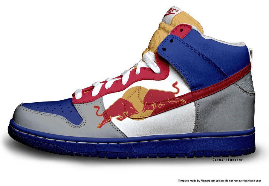 Red Bull custom Nike | Mens nike shoes