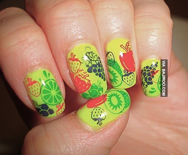 amazing tutti fruit nail art Amazing fruit nail art (28 Photos)
