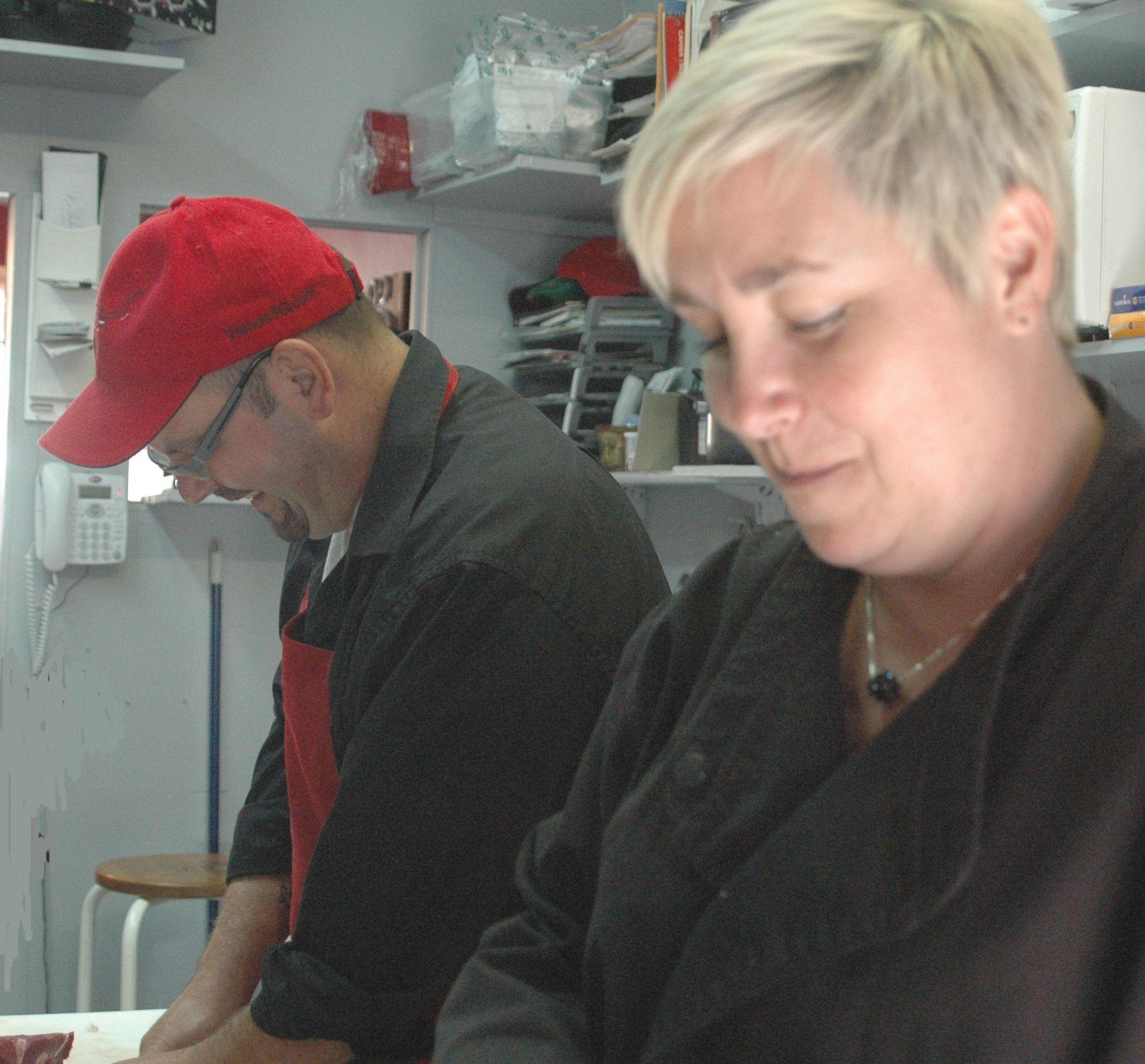 Session de photo 2010: Stéphane et Chantal au travail