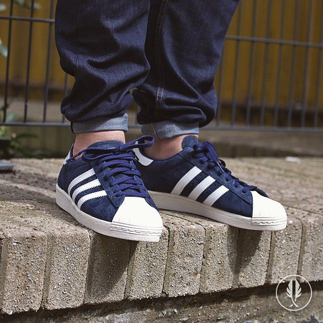 "alegría Repetirse Tanga estrecha  Adidas On Feet | afewstore: ""Adidas Superstar 80s "" •Core Navy•... 