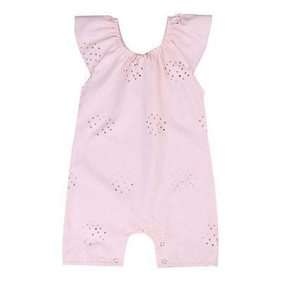 439786cb72e5 Adorable Floral Hollow Pink Romper – Everything For Your Baby Girl ...