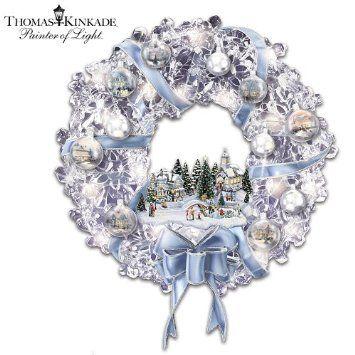 Amazon.com: Thomas Kinkade Holiday Brilliance Crystal Wreath  #onekingslane #designisneverdone