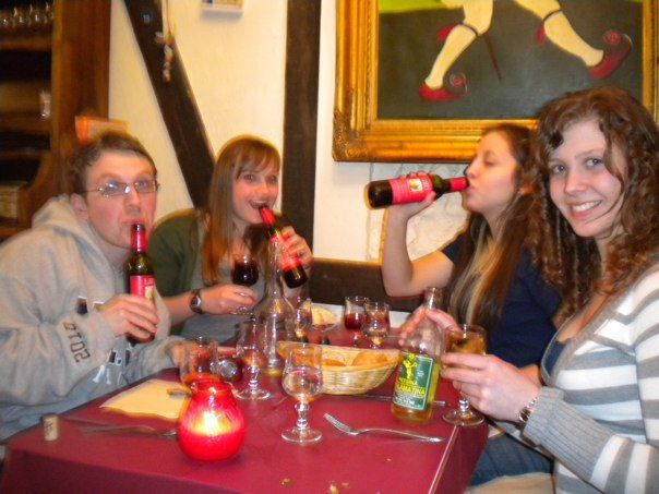 Paris, France, 2010. Chugging the fuck out that demi-wine.